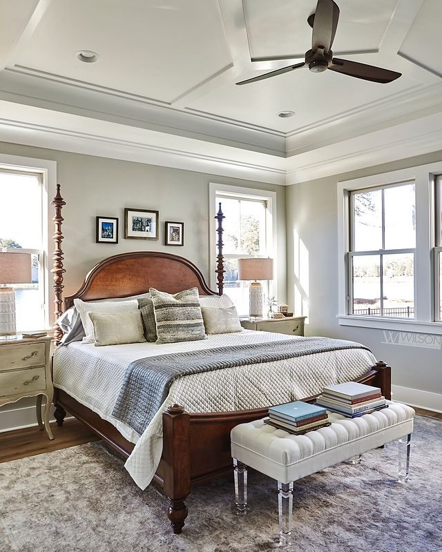 Paint color is Sherwin Williams SW 7658 Gray Clouds in