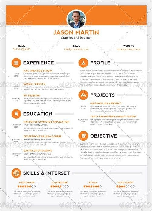 Interesting Resume Templates Free Creative Cv Templates Psd  Free Sample Thankyou Letters