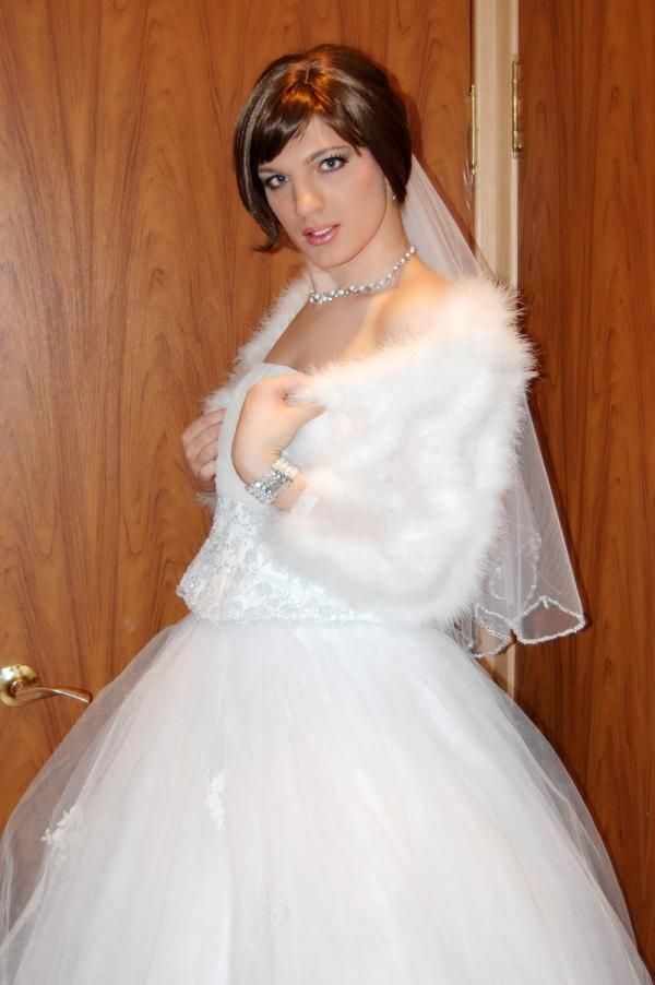 I prefer to wear makeup and ... my wedding dress