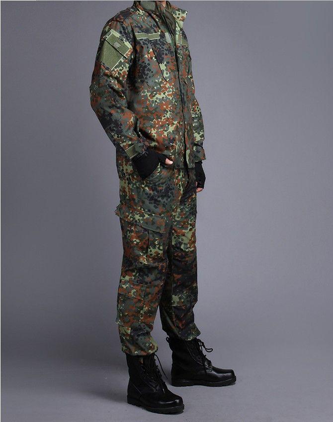 GERMAN ARMY WOODLAND CAMO Suit ACU BDU Military Camouflage Suit sets CS  Combat Tactical Paintball Uniform Jacket   Pants dfa4969906381