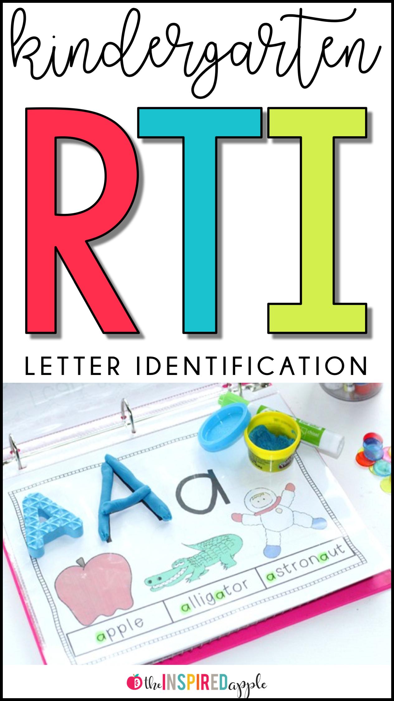 Kindergarten Rti Letter Identification Amp Recognition