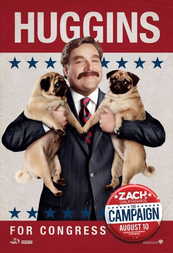 Pugs For President The Campaign Movie Funny Movies New Movie