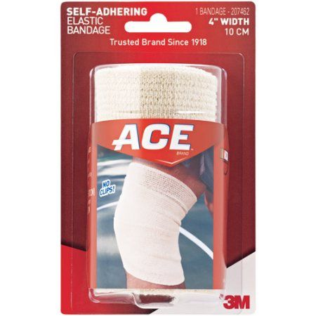 Ace Self Adhering Elastic Bandage 207462 4 In 207462 Multicolor