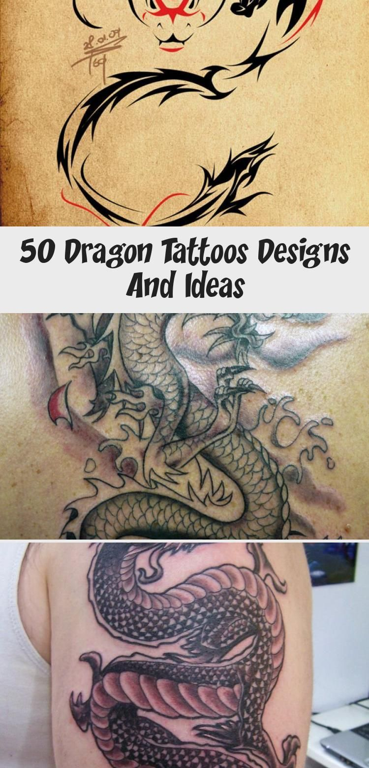 Photo of 50 Dragon Tattoos Designs und Ideen – Tattoos – Dragon Tattoos für Männer …