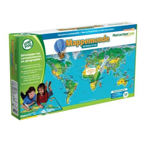 Carte interactive Mon lecteur Leap Découvre la géographie Leapfrog pour enfant de 4 ans à 8 ans ...
