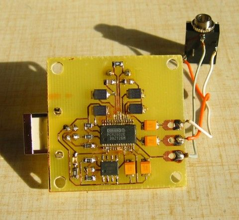 Usb Audio Dac Electronics Circuit Electronic Gifts For Men Electronics Projects Diy