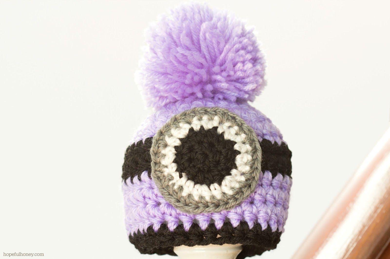 Newborn Evil Minion Inspired Hat Crochet Pattern