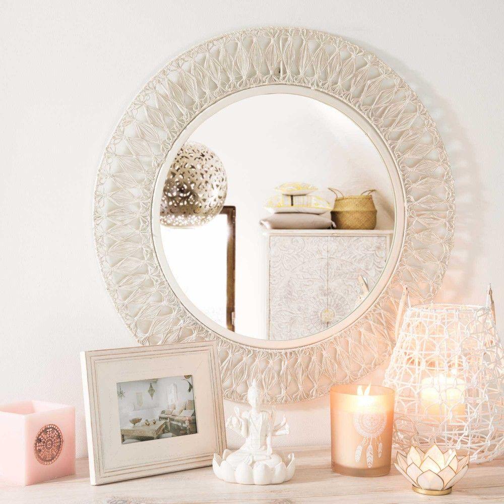 runder spiegel aus wei em metall wohnen pinterest runde spiegel spiegel und metall. Black Bedroom Furniture Sets. Home Design Ideas