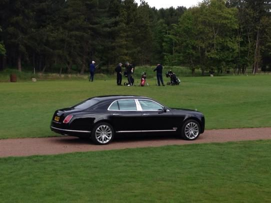 Bentley at home at a Golf Club, fabulous car
