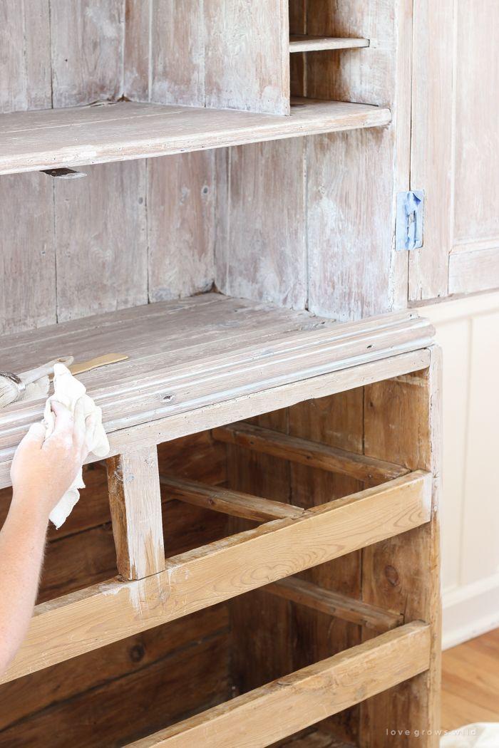Armoire Makeover Whitewashing Tutorial White Washed Furniture