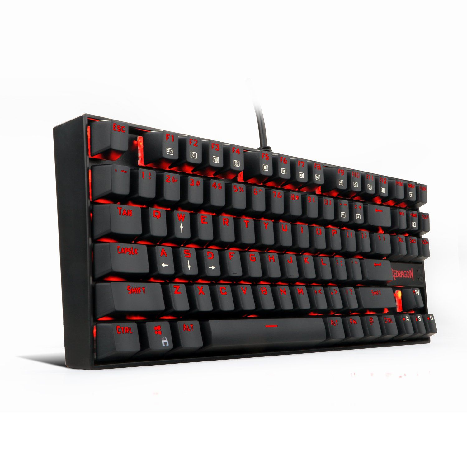 Redragon K552 Red Led Backlit Mechanical Gaming Keyboard Small