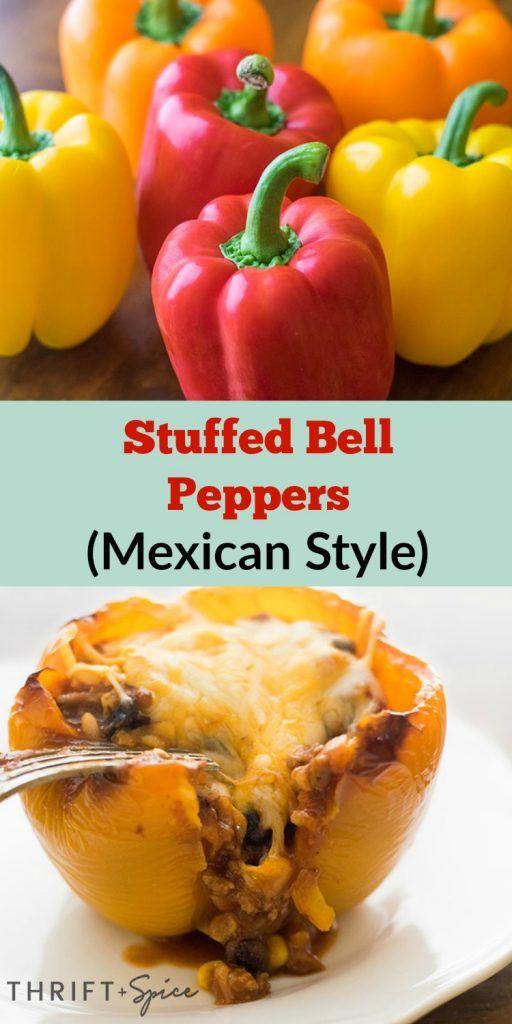Easy Stuffed Bell Peppers Recipe Stuffed Peppers Stuffed Bell Peppers Mexican Food Recipes