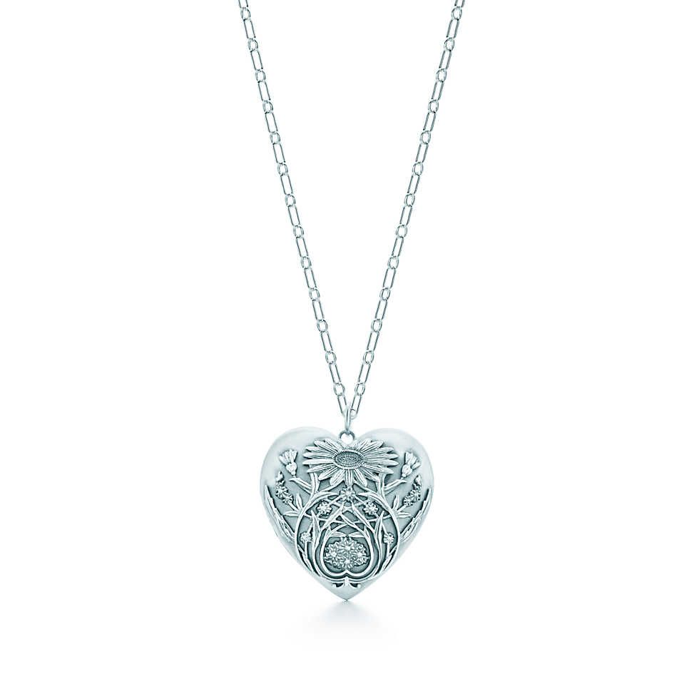 0b06ef041 this is just lovely --> Ziegfeld Collection daisy locket in sterling silver  on a chain, large. | Tiffany & Co.
