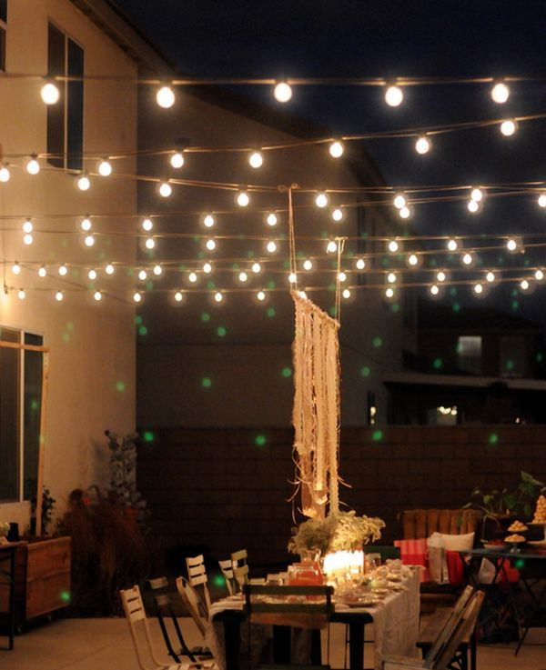 Outdoor Magic How To Decorate With Fairy Lights Terrassen Beleuchtung Hinterhofbeleuchtung Terrassenbeleuchtung