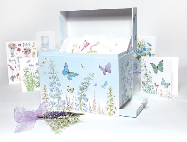 Not Just Cards Butterfly Box Greeting Card Organizer Organiser Box