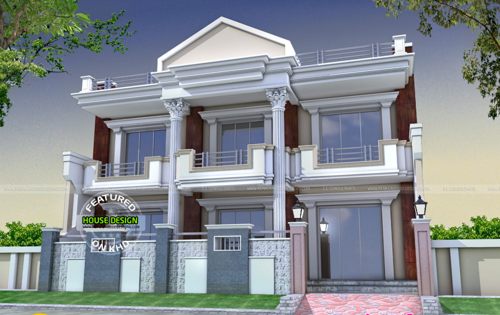 Double Storey Kerala Houses Front Elevations House