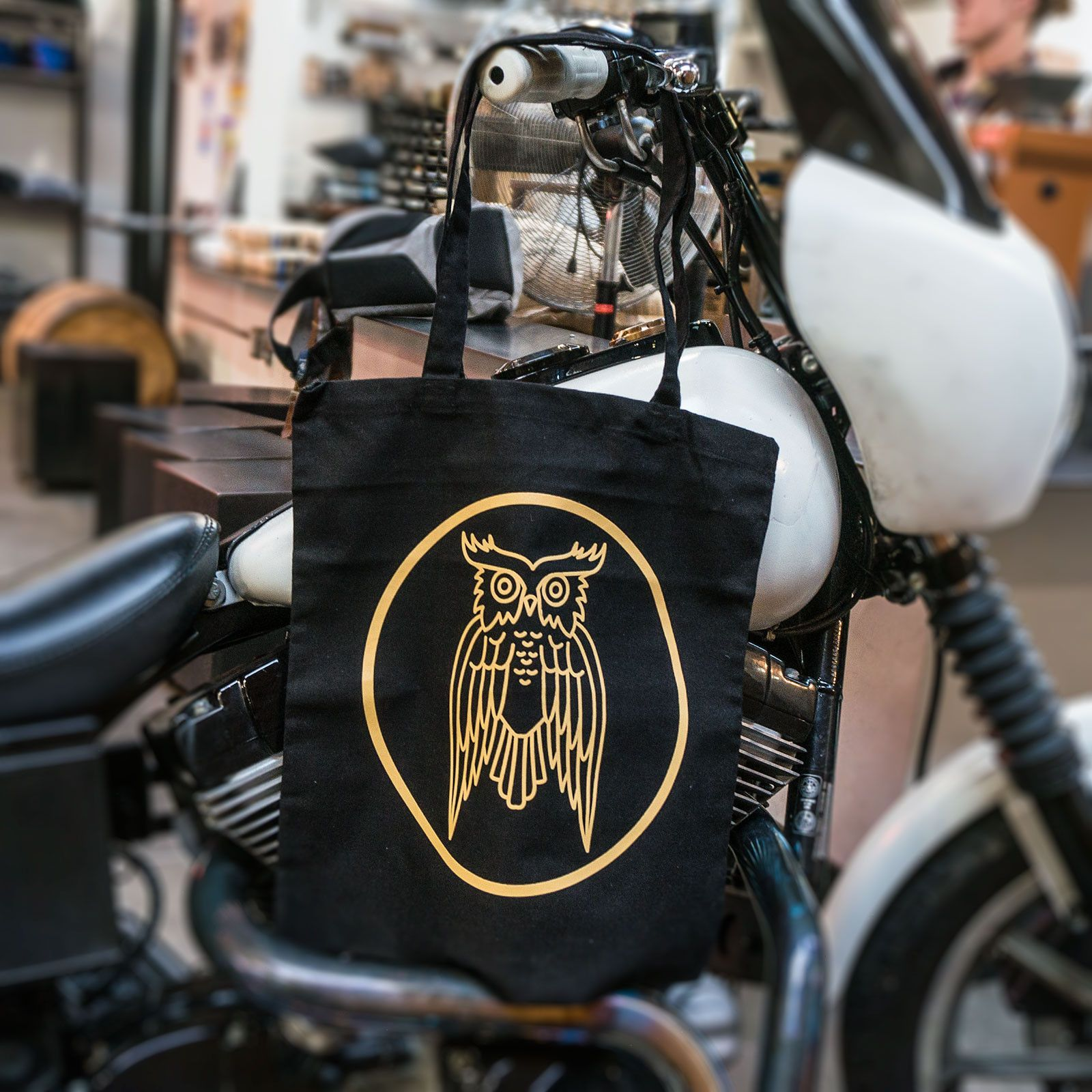 Owl Tote - Black & Gold