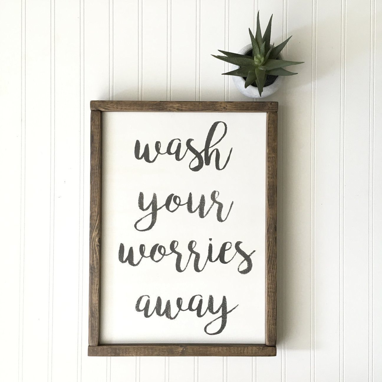 Photo of Wash Your Worries Away Sign