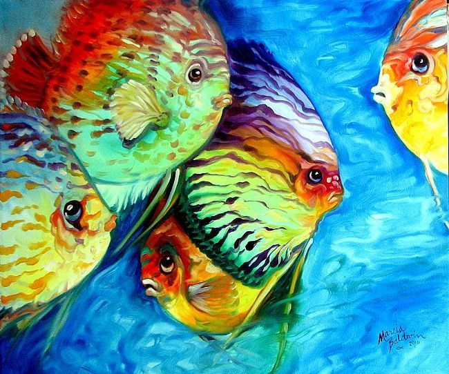 Tropical Fish Colors By Marcia Baldwin Tropical Art Fish Art Art