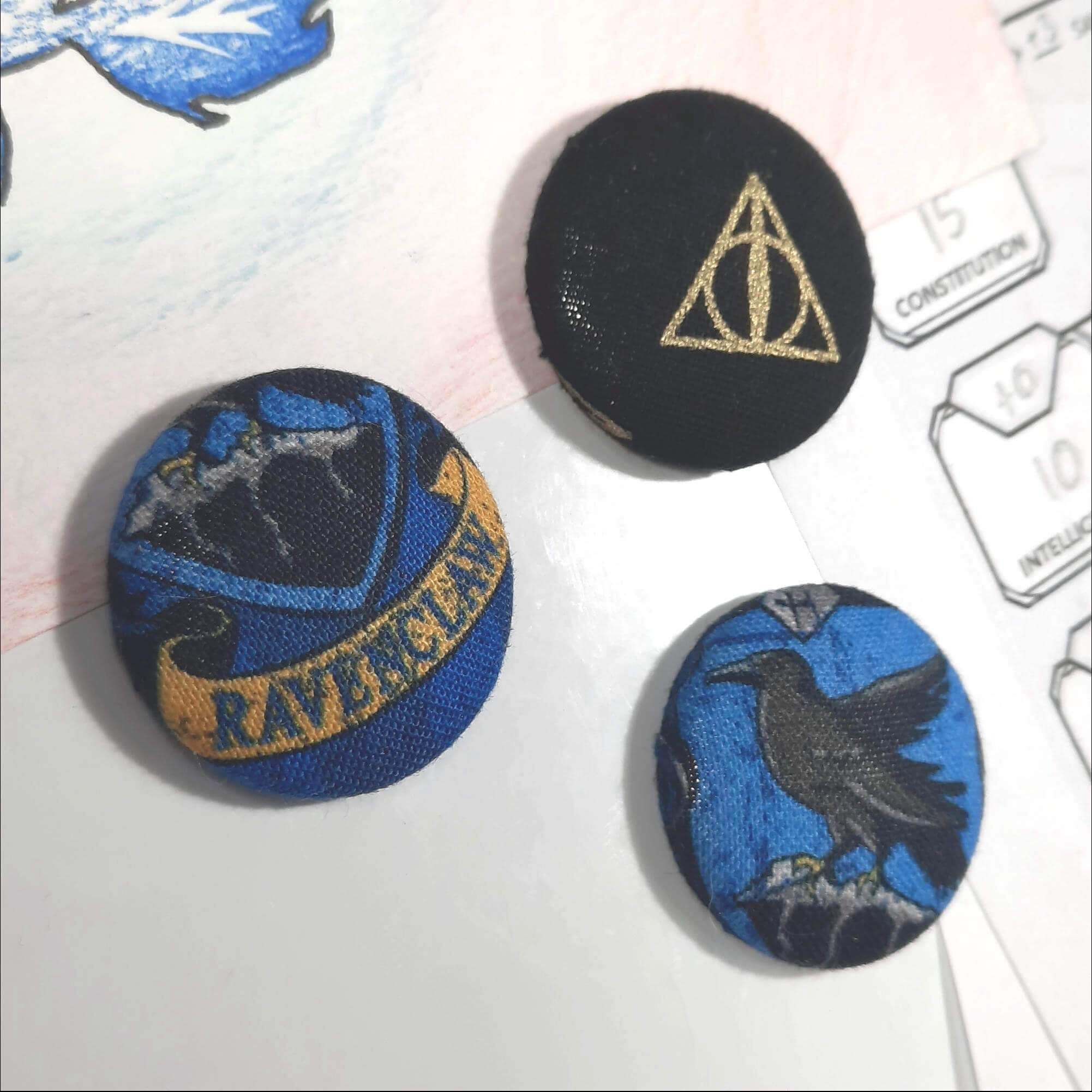 Ravenclaw House Magnets Made From Harry Potter Fabric