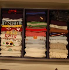 Use Containers To Organize Dresser Drawers Sort By Long Short Sleeve Onesie Pants