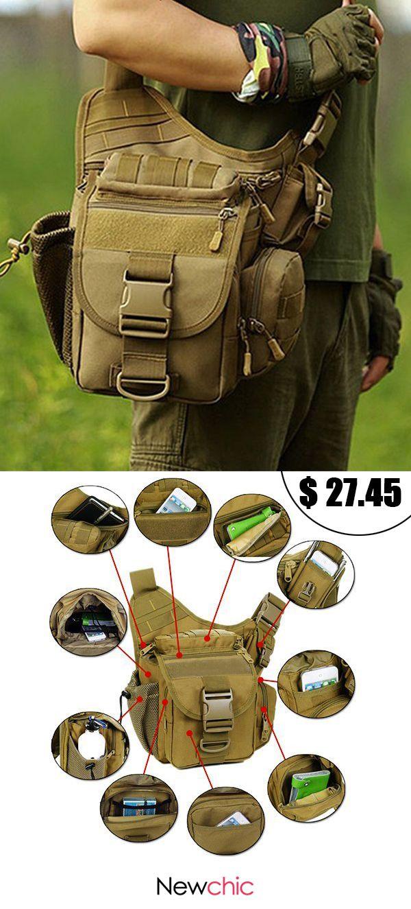 [50%off]Waterproof Nylon Camera Bag Outdoor Multi-functional Crossbody Bag Tactical Package For Men #bags #camera #multifunctional #travelbugs