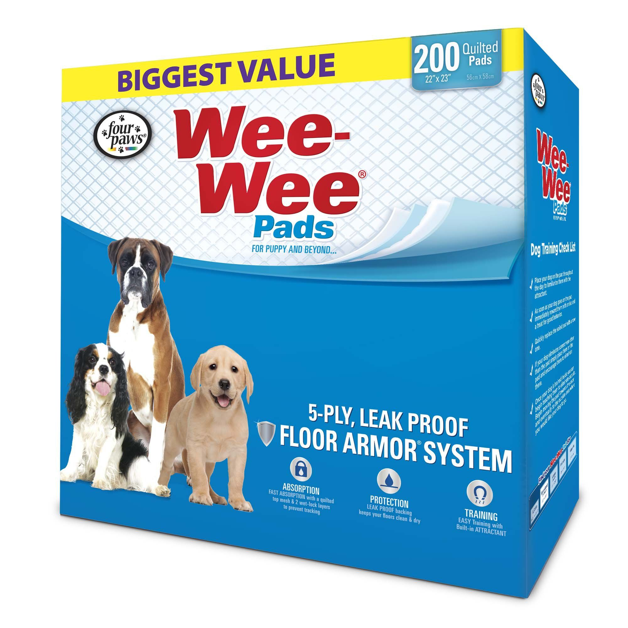 Wee Wee Pads 200 Count Puppy Pads Dog Training Pads Training Pads