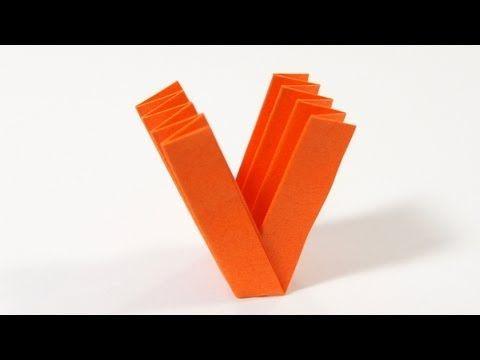 letter v origami
