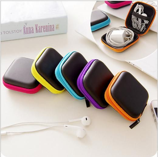 Digital Portable Travel Storage Bag For Usb Data Cable Headset Pouch Package Yes