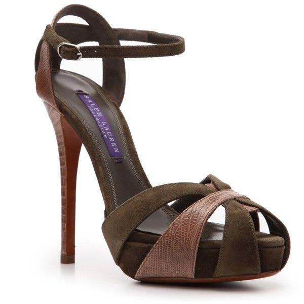 buy cheap best seller deals for sale Ralph Lauren Collection Ankle Strap Platform Sandals Myj3v