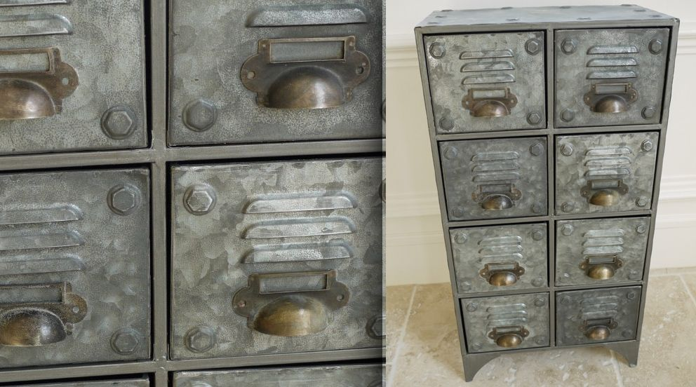 Meuble à 8 tiroirs style industriel