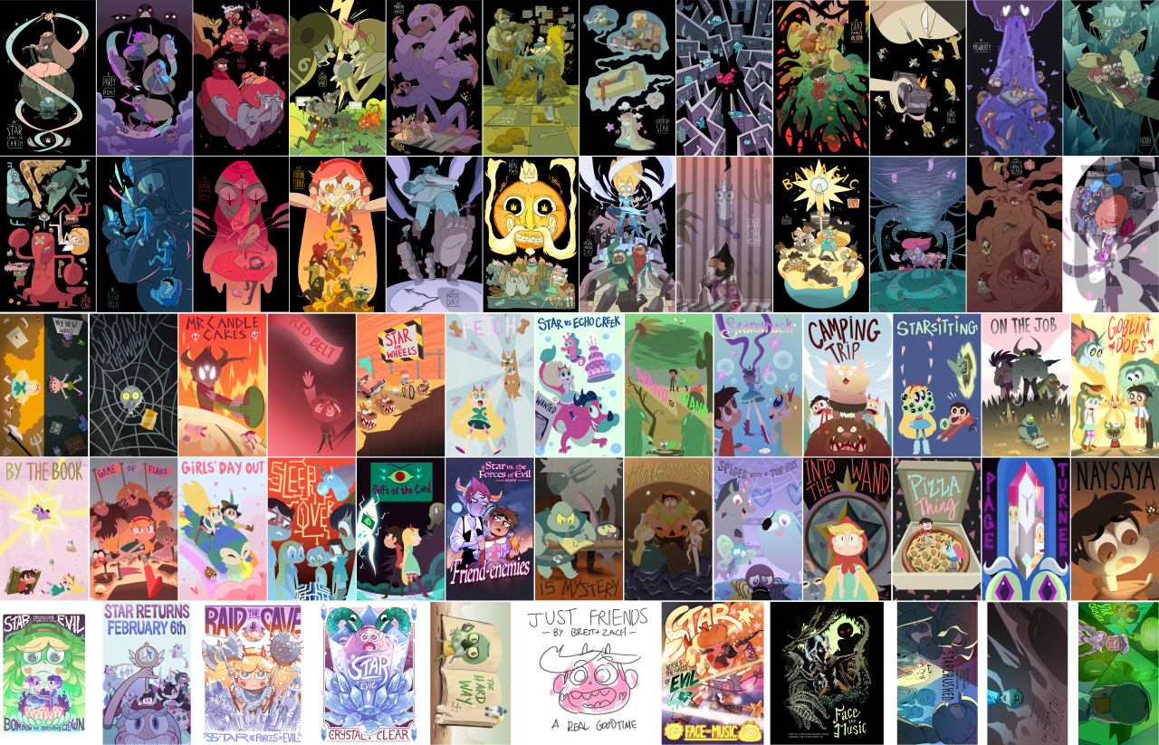 Star Vs The Forces of Evil PostersSeason 1 Episode Posters album  Season 2 Episode Posters album  Download link for both  Season 1 posters by  http://evonyo.tumblr.com/  Season 2 posters by  http://tumblr.beckyandfrank.com/ (ep. 1-15)...