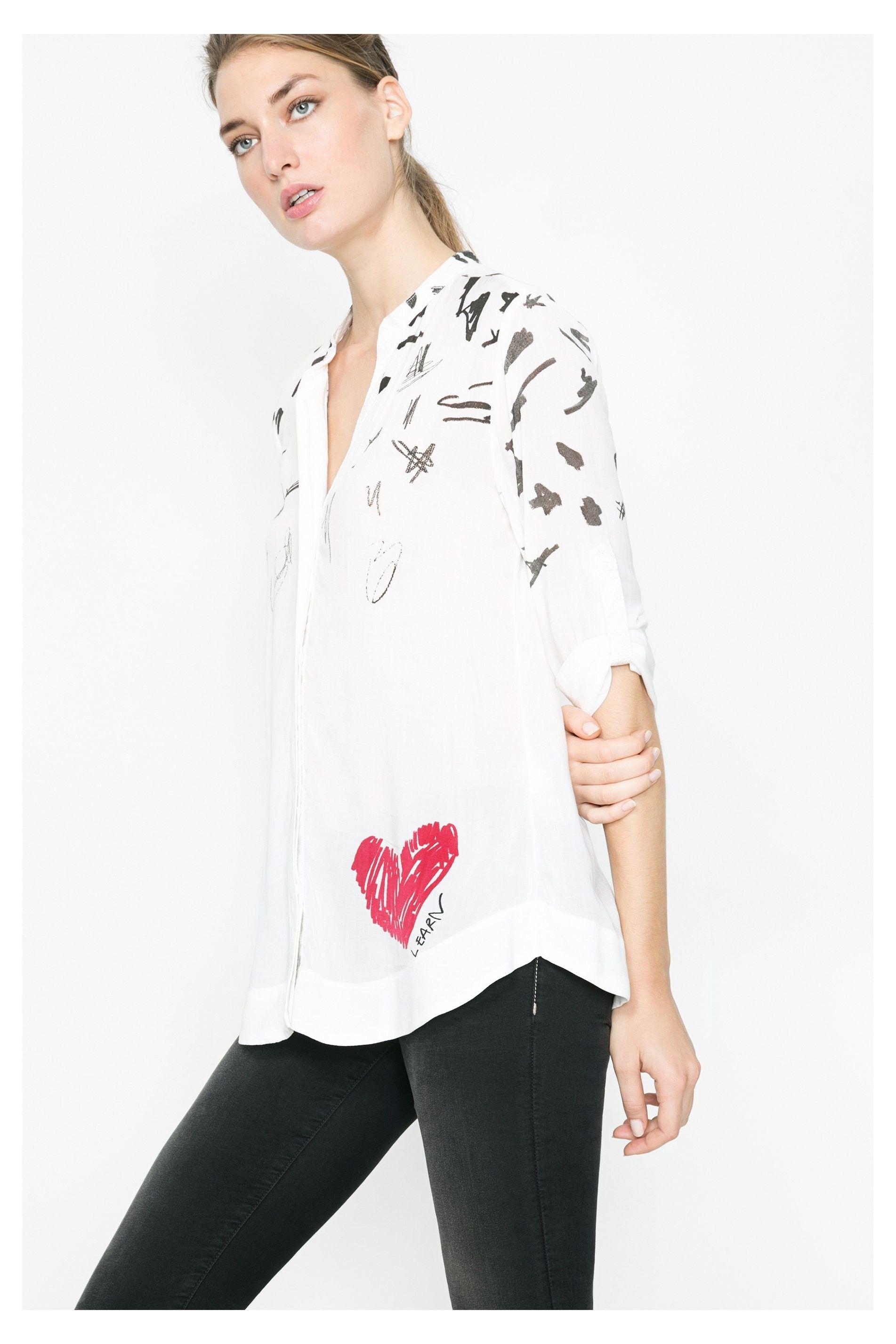 6c857134e Pin de Mymalena Style en WE LOVE DESIGUAL | Camisas, Camisa blanca y ...