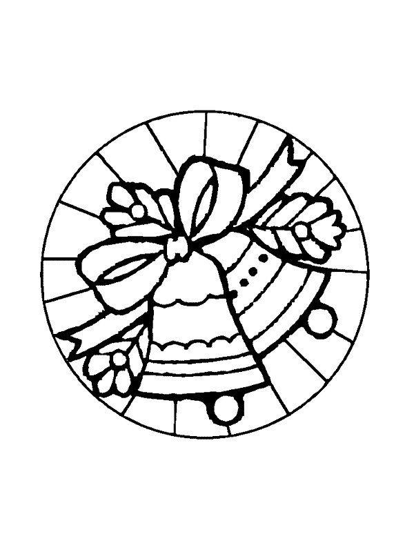 Kerstmis Mandala Klokken Kleurplaat Beeldende Vorming Pinterest