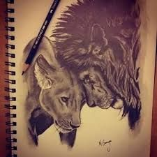 bdd5d8a30e268 Lion And Lioness Tattoo on Pinterest | Lion thigh tattoo Lion tattoos .