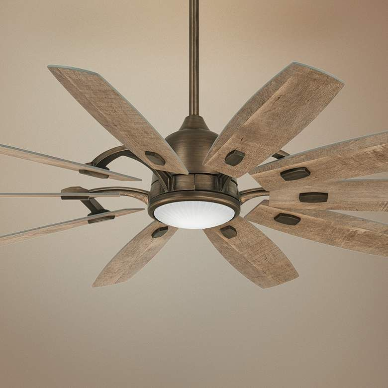 65 Minka Aire Barn Heirloom Bronze Led Ceiling Fan 67y99 Lamps Plus Led Ceiling Fan Windmill Ceiling Fan Ceiling Fan