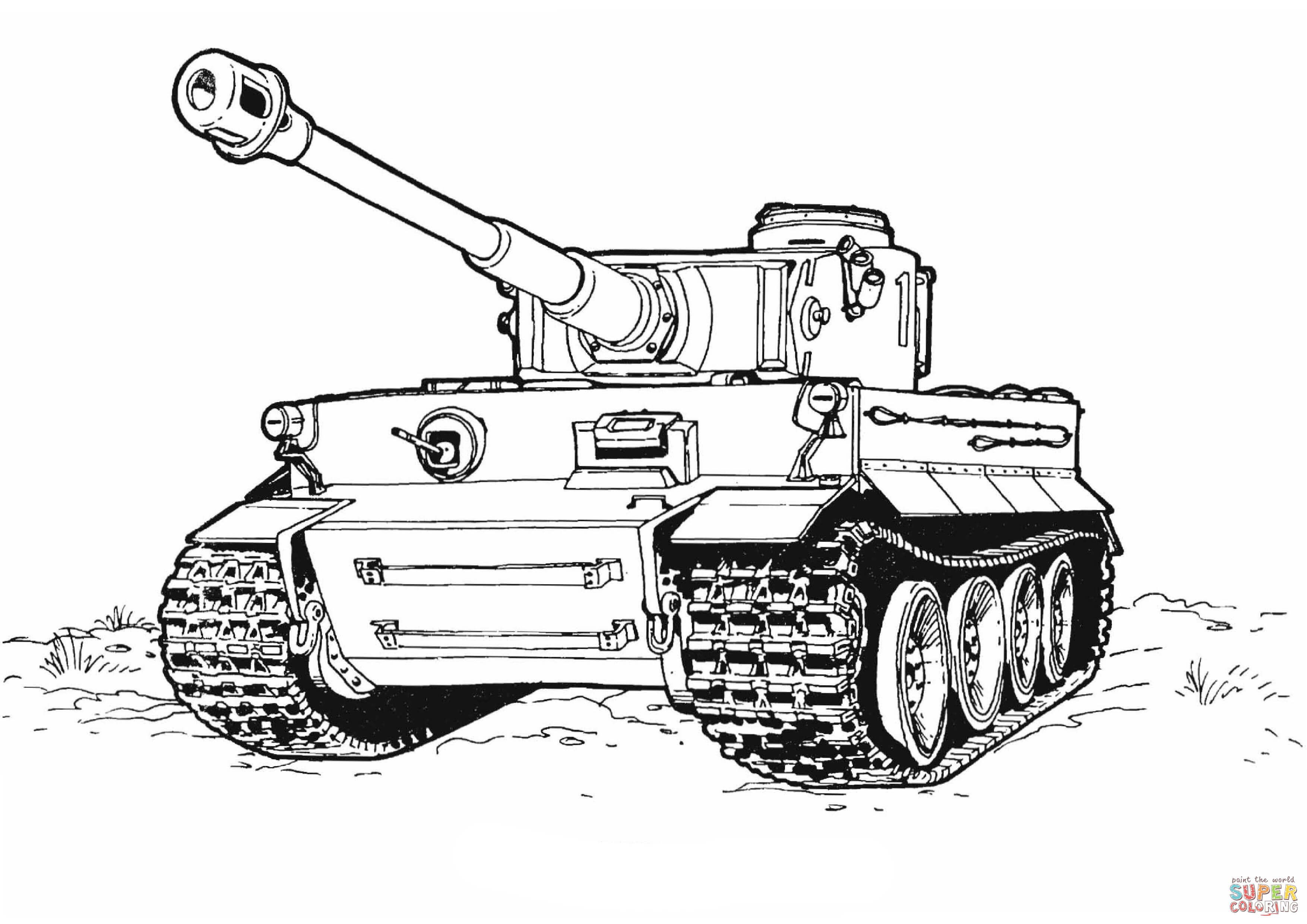 Tiger Tank Coloring Page From Tanks Category Select From 27260 Printable Crafts Of Cartoons Nature Animals Bib Tank Drawing Truck Coloring Pages Tiger Tank