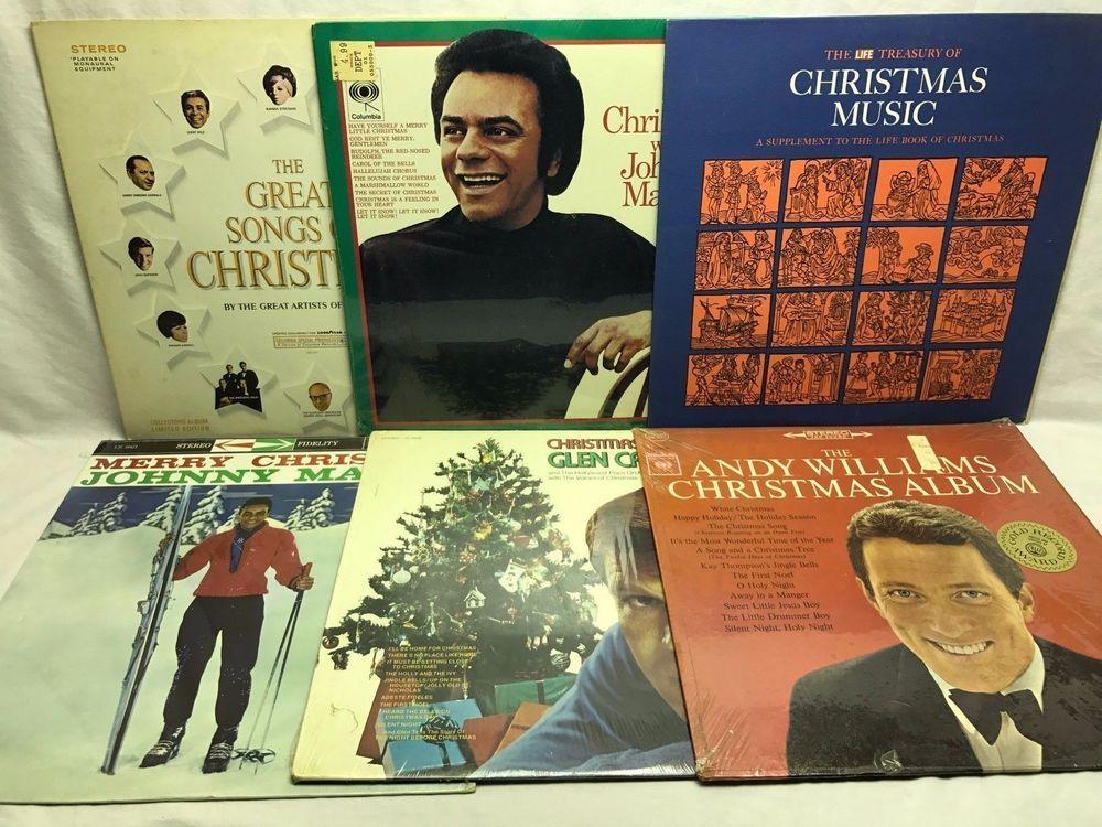 Merry Christmas Music LP, Vinyl Record, Album Lot of 6: Johnny ...