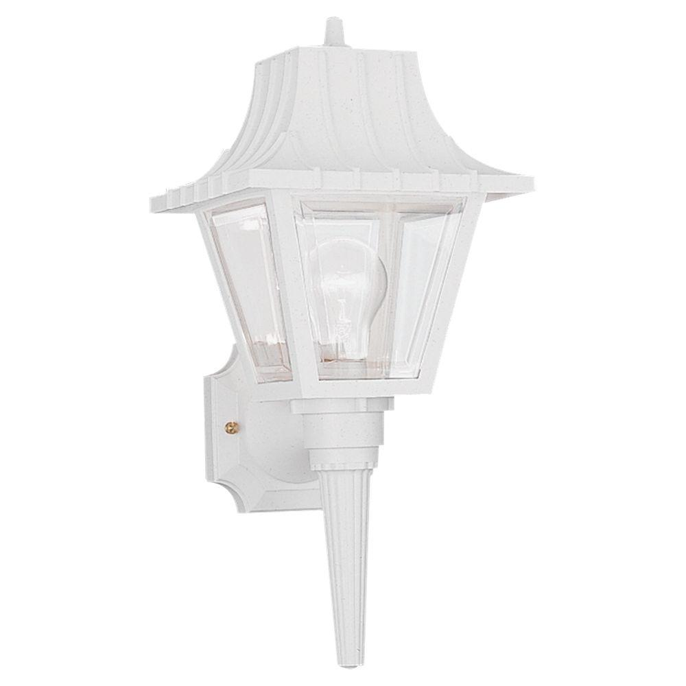 Sea Gull Lighting Polycarbonate Outdoor Collection 1 Light White