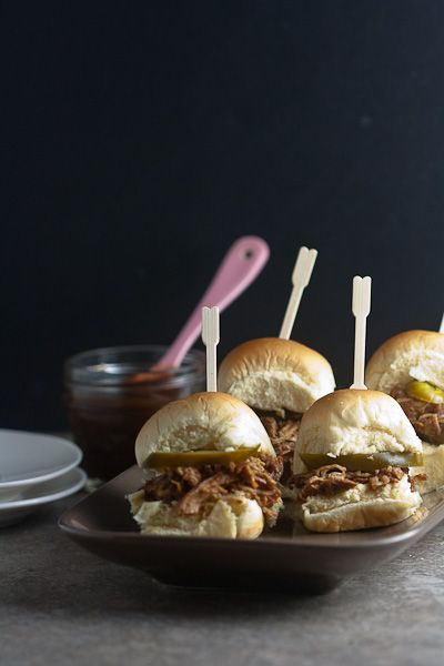 Asian Pulled Chicken Sliders - This sounds delicious!