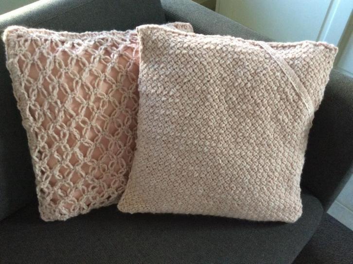 Oud Roze Kussens : Set kussens oudroze dikke wol samen voor excl verzendkosten