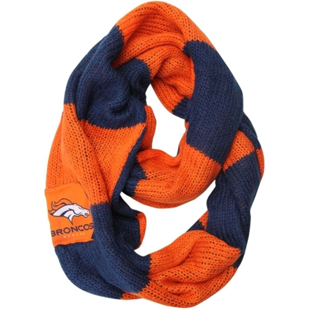 Womenus denver broncos colorblock infinity scarf