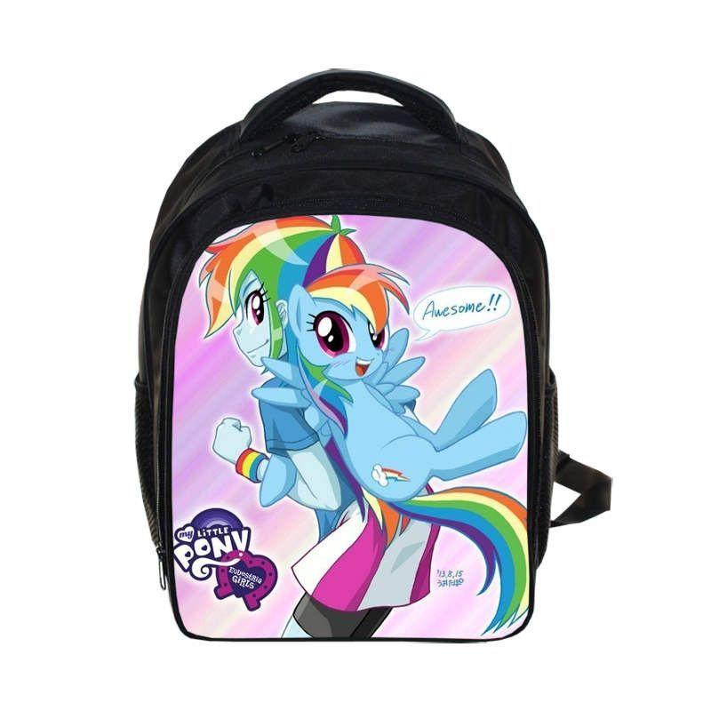 Anime My Little Pony Backpack Girls School Bags Cartoon Sailor Moon For Kids Daily Backpacks