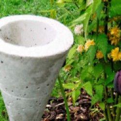bastelanleitung für einen gartenstecker aus beton | beton selber, Garten ideen