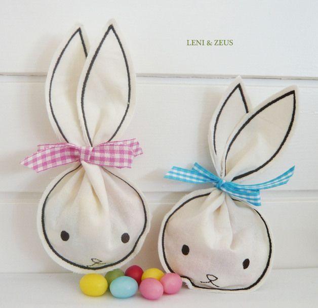 osternest mal anders hasenbeutelchen f r kleine ostergeschenke little bunny gift bags for. Black Bedroom Furniture Sets. Home Design Ideas