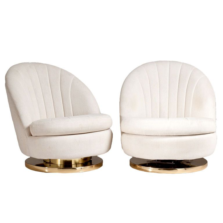 A Pair Of Milo Baughman Swivel Chairs For Thayer Coggin   From A Unique  Collection Of Antique And Modern Swivel Chairs At ...