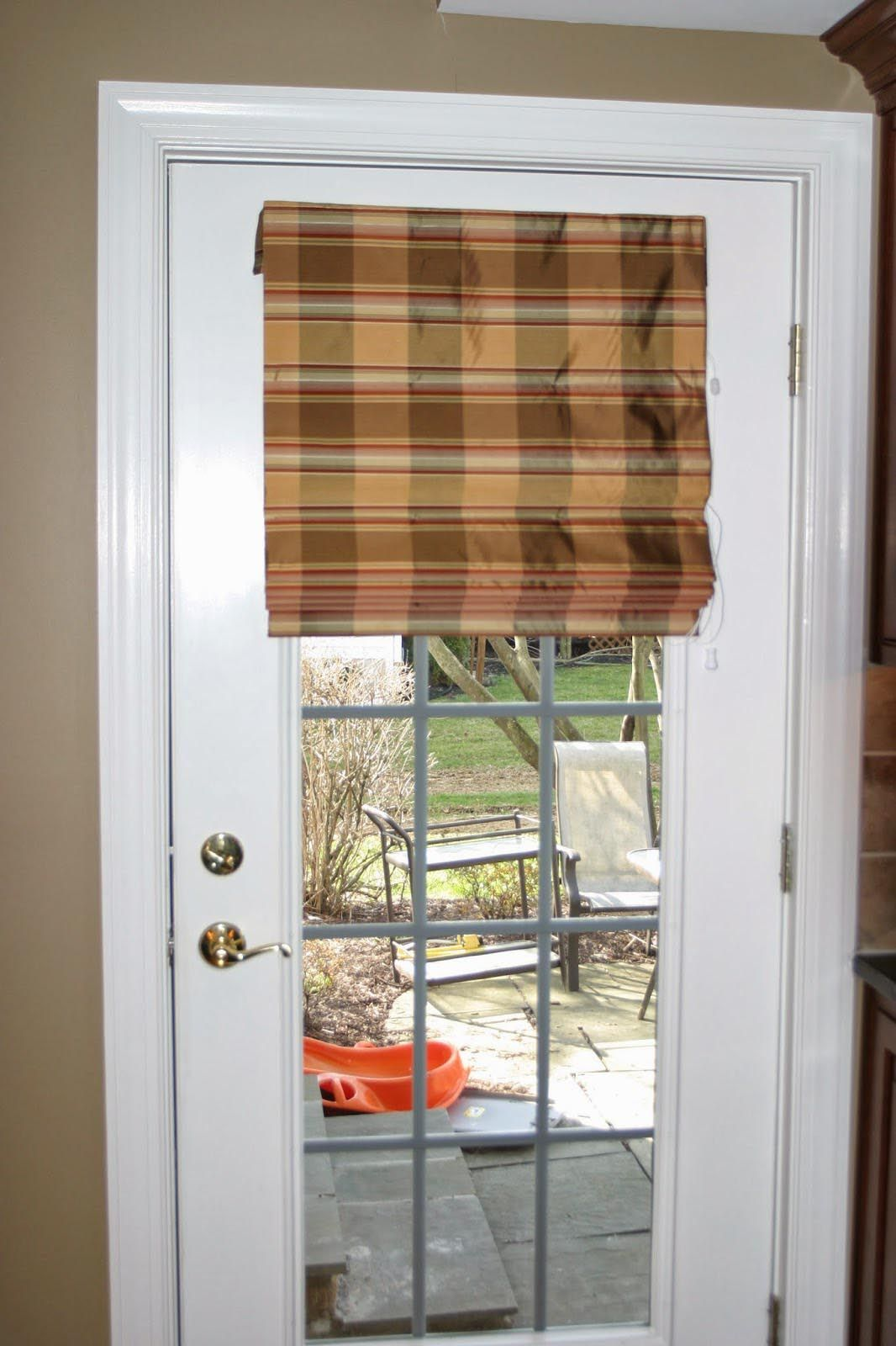 Fabric Shades For French Doors Window Shades Pinterest Door