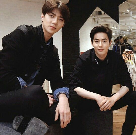 i.t KMIX Grand Opening in Hong Kong 150506 : Sehun and Suho