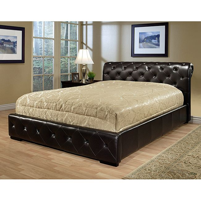 Abbyson Living Westlake Dark Brown Faux Leather Queen-size Bed ...