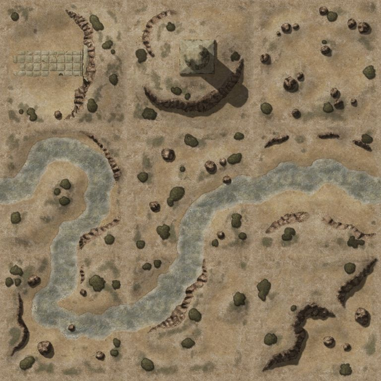 Desert/River (45x45 at 70px for Roll20) by PSanma